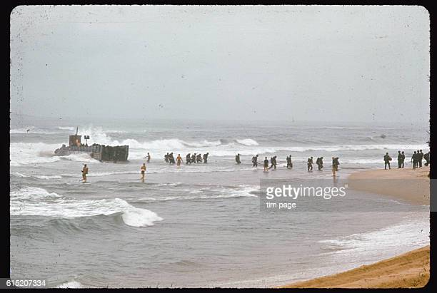American troops taking part in Operation Colorado, make an amphibious assault, Quang Ngai, Vietnam.
