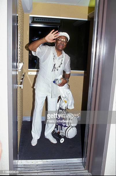 American trumpet player Clark Terry backstage at the North Sea Jazz festival in the Congresgebouw, The Hague, Netherlands on 15th July 1989.