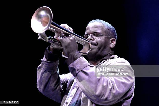 American trumpet player Terence Blanchard performs live on stage during a celebration of Spike Lee's film music at The Barbican in London on 21st...