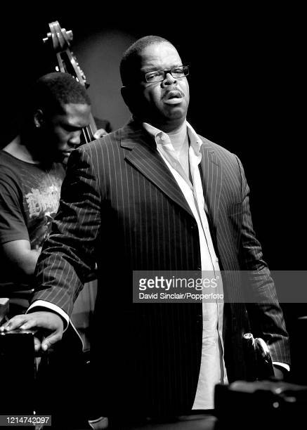 American trumpet player Terence Blanchard performs live on stage at Ronnie Scott's Jazz Club in Soho London on 14th July 2008
