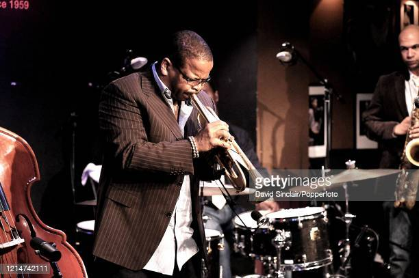 American trumpet player Terence Blanchard performs live on stage at Ronnie Scott's Jazz Club in Soho London on 11th May 2009