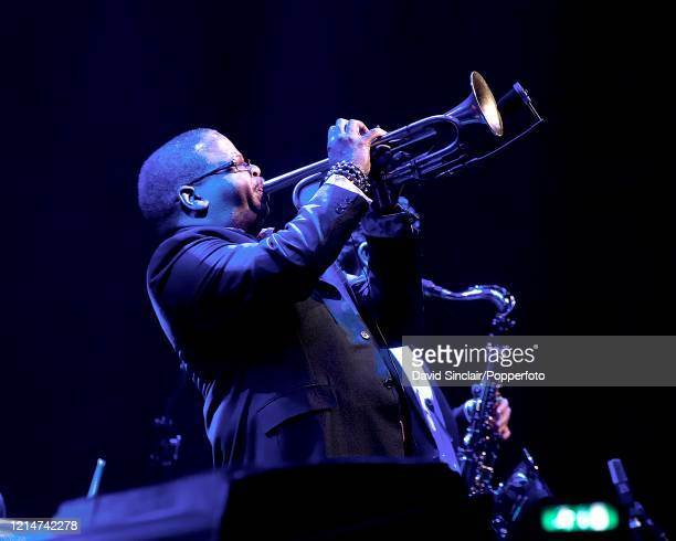 American trumpet player Terence Blanchard performs live on stage at The Barbican in London on 14th November 2010