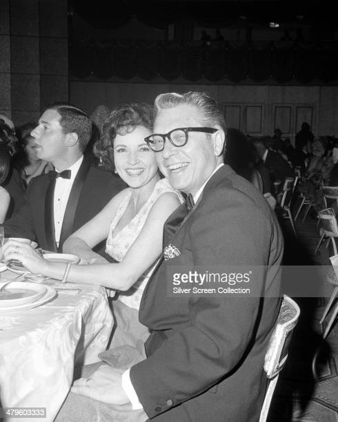 American TV personality Allen Ludden and his wife actress Betty White at the 18th Emmy Awards at the Hollywood Palladium Los Angeles 22nd May 1966