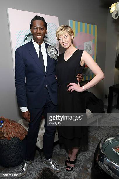 American TV personality and runway coach J Alexander also known as Miss J and actress Analeigh Tipton attend the 17th Annual Savannah Film Festival...