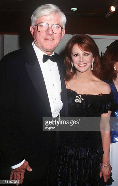 American TV personality Phil Donahue and actress Marlo Thomas attend the St Jude Children's Hospital Benefit Gala on July 25th 1992 at the Century...