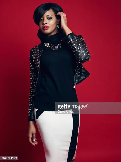 American TV personality Vanessa Simmons is photographed for Self Assignment on December 1 2014 in Los Angeles California