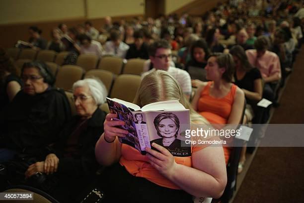 American University Law student Savannah Black reads former Secretary of State Hillary Clinton's new book 'Hard Choices A Memoir' before Clinton...