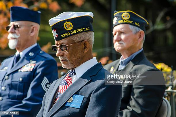 American Veterans Honored at a Veteran's Day Cermony