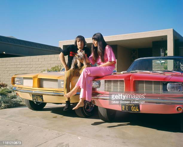 American vocal duo Sonny Cher aka husband and wife Sonny Bono and Cher circa 1965