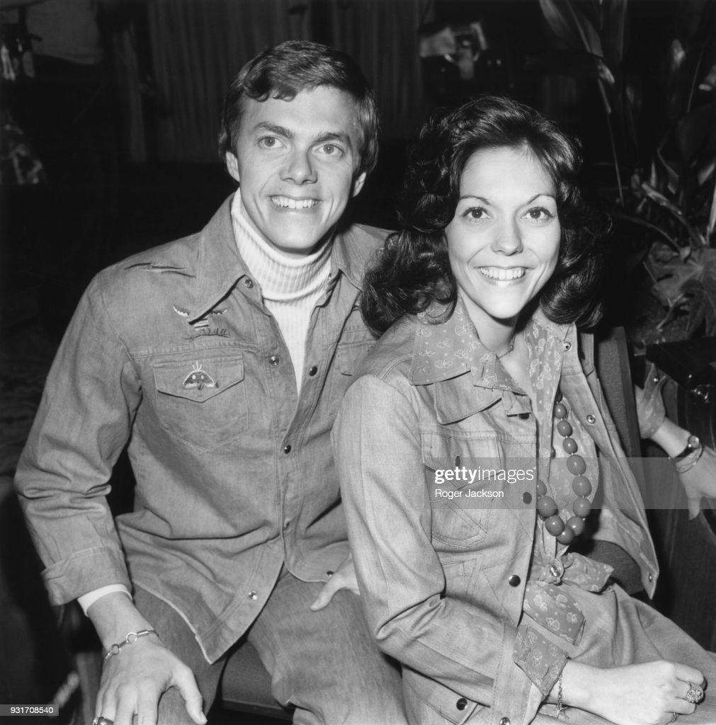American vocal duo The Carpenters, brother and sister