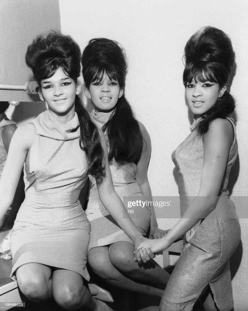 American vocal group The Ronettes, comprised of Nedra Talley, Estelle Bennett and Veronica Bennett, later Ronnie Spector, circa 1960.