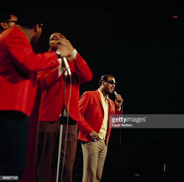 Levi Stubbs with the Four Tops performs on a television show in the 1960's
