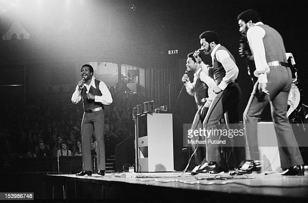 American vocal quartet The Four Tops in concert at the Royal Albert Hall in London 27th October 1971