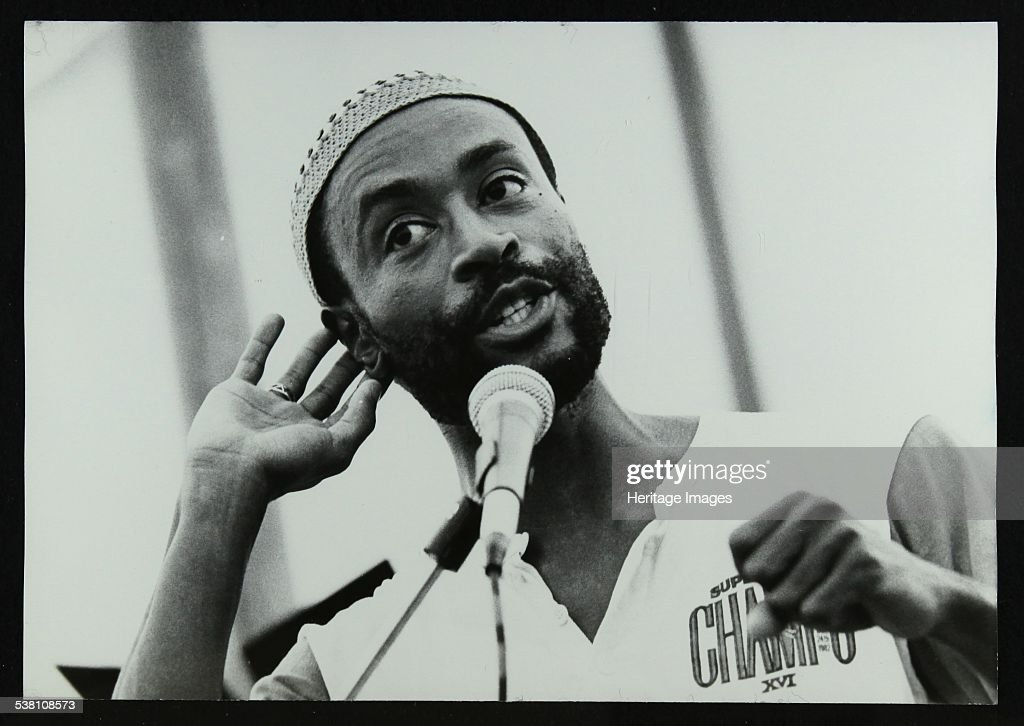 American vocalist Bobby McFerrin at the Bracknell Jazz Festival, 1983. . : News Photo