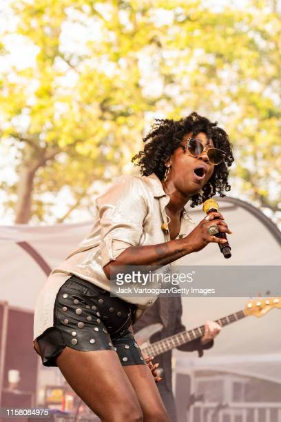 American vocalist Erica Falls of the jam band Galactic performs onstage at Central Park SummerStage New York New York June 4 2019 The performance was...