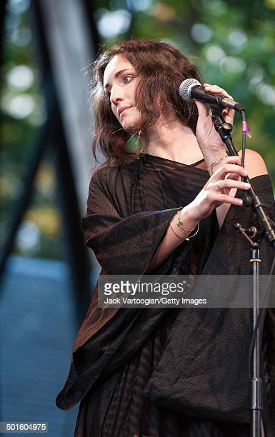 American vocalist Haley Dekle performs at Central Park SummerStage New York New York June 22 2014