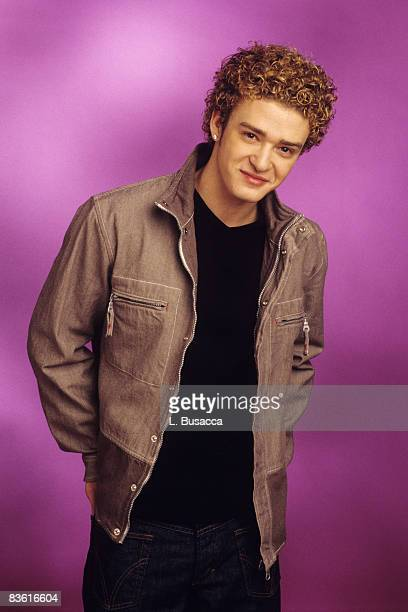 American vocalist Justin Timberlake of the group NYSNC poses during a photoshoot New York New York circa 2000