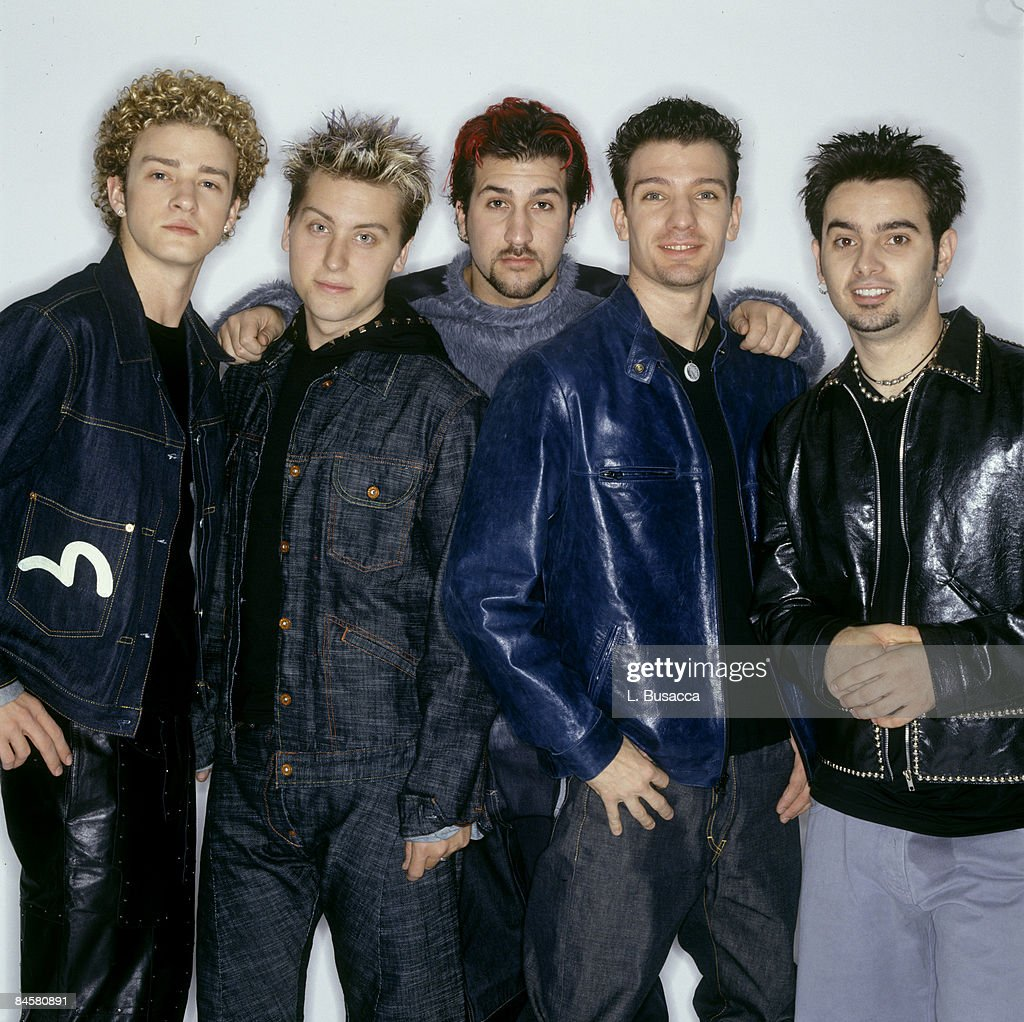 Justin Timberlake, Lance Bass, Joey Fatone, JC Chasez and Chris Kirkpatrick of Nsync pose for a photoshoot circa 1999 in New York City.