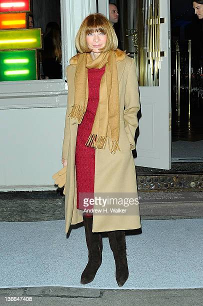 American Vogue EditorinChief Anna Wintour attends the Stella McCartney Soho Store opening on January 9 2012 in New York City