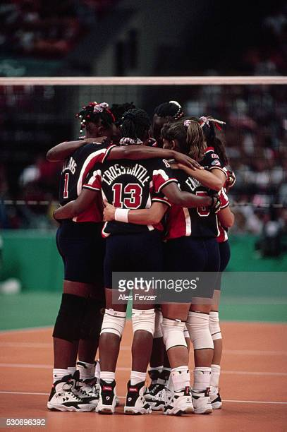 american volleyball team, 1996 olympic games - 1996 summer olympics atlanta stock pictures, royalty-free photos & images