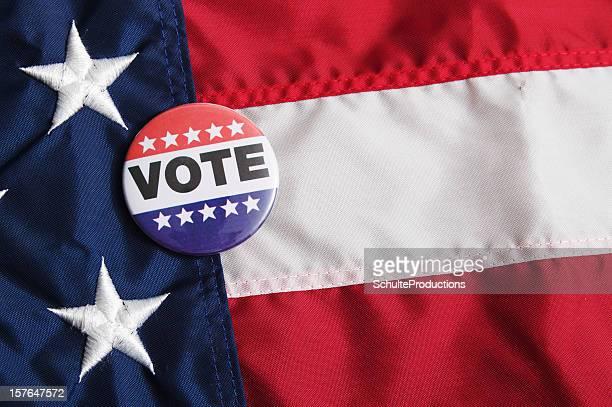 American Voting Pin