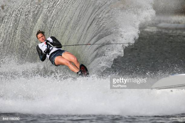 American water skier Regina Jaquess won open ladies slalom at the 2017 IWWF World Open Championships on September 10 in ChoisyleRoi near paris France