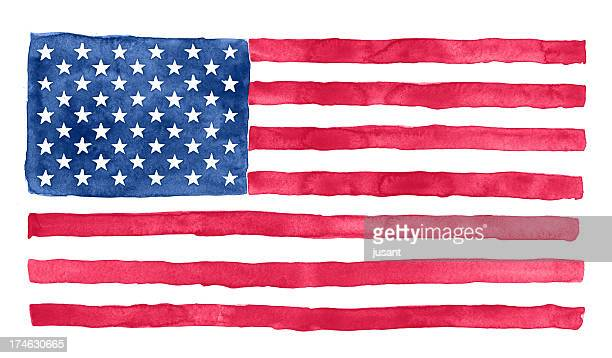 American watercolor flag