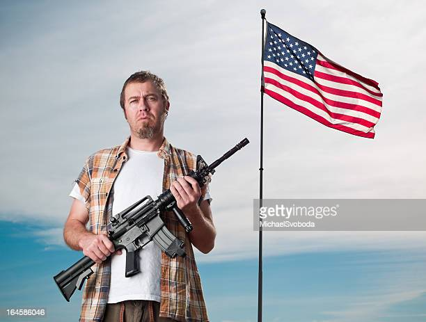 American with an Assault Weapon