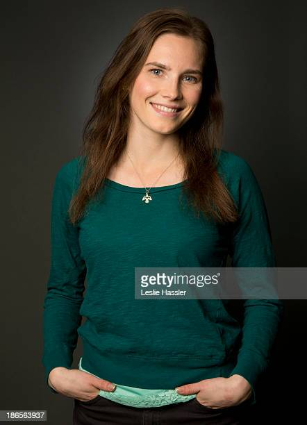American woman who served prison time in Italy for murder Amanda Knox is photographed for Self Assignment on April 30 2013 in New York City