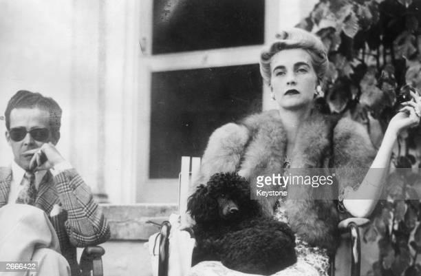 American Woolworth heiress Barbara Hutton with New York golfer Robert Sweeney in Palm Beach