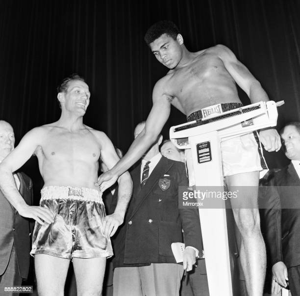 American world champion heavyweight boxer Muhammad Ali formerly known as Cassius Clay pictured at the Odeon Cinema in Leicester Square during the...
