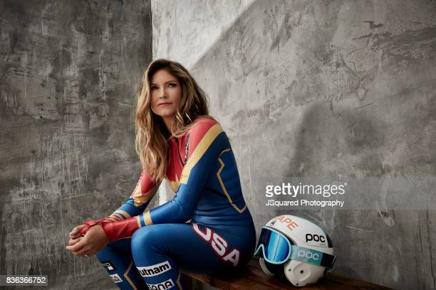 American World Cup alpine ski racer and Olympic gold medalist Julia Mancuso is photographed for Self Assignment on April 27 2017 in Los Angeles...