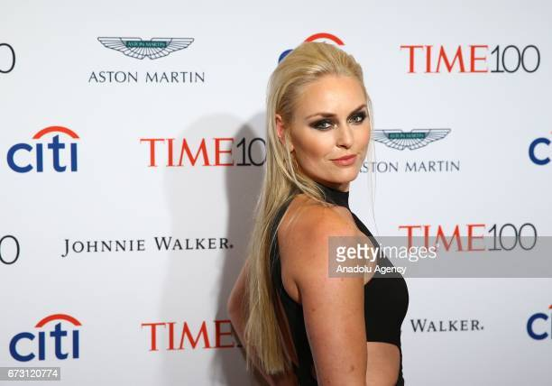 American World Cup alpine ski racer Lindsey Vonn attends the 2017 TIME 100 Gala at Jazz at Lincoln Center in New York United States on April 25 2017