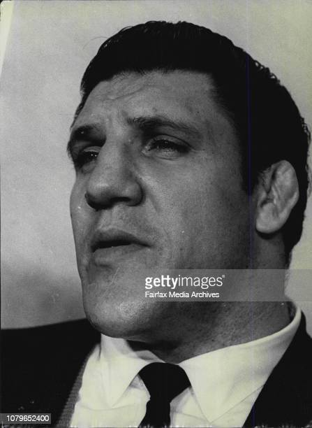 American wrestler Bruno Sammartino, who is claimed to be the highest paid wrestler in the world.He will receive $25,000 in American dollars for his...