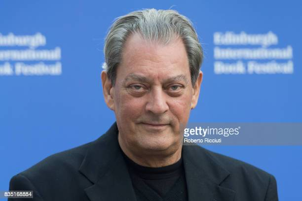 American writer and director Paul Auster attends a photocall during the annual Edinburgh International Book Festival at Charlotte Square Gardens on...