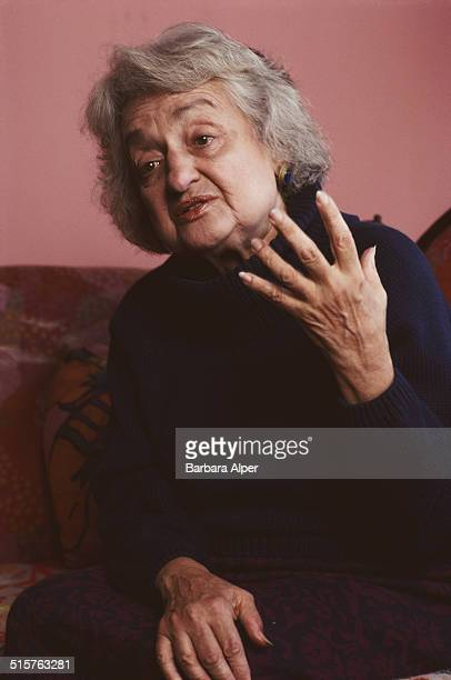 American writer and feminist Betty Friedan at her apartment in New York City 5th November 1990