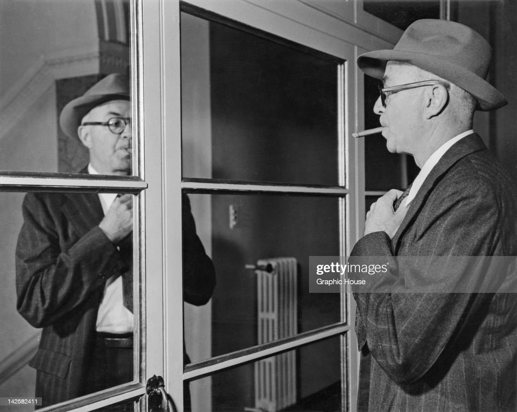 American writer and painter John Dos Passos (1896 - 1970) at the Gritti Palace hotel, during the International PEN Congress in Venice, September 1957.