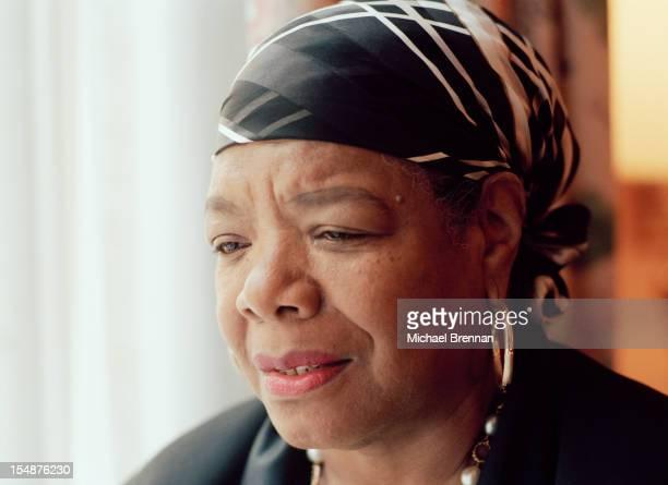 American writer and poet Maya Angelou in New York City, April 1994.