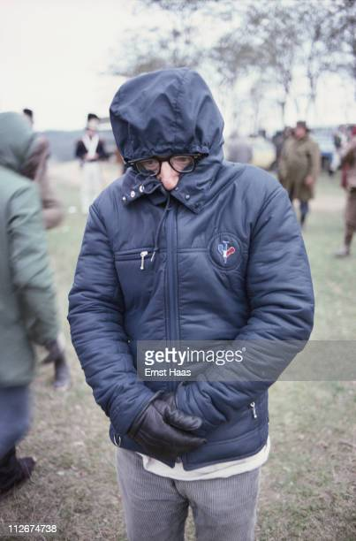 American writer director and actor Woody Allen on the set of the film 'Love And Death' in Europe November 1974