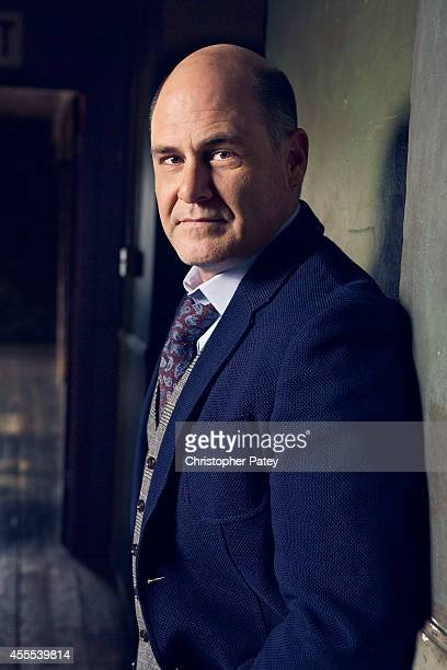 American writer director and producer Matthew Weiner is photographed for The Hollywood Reporter on April 17 2014 in Los Angeles California