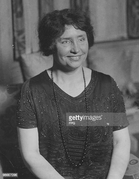 American writer, educator and advocate for the disabled Helen Keller , circa 1910. A childhood illness left Keller blind, deaf and mute.