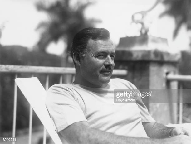 American writer Ernest Hemingway , in Cuba, July 1940.