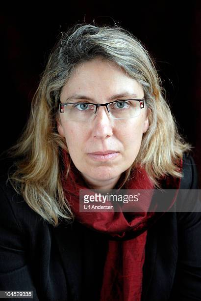 PARIS FRANCE SEPTEMBER 26 American writer Gil Adamson poses during a portrait session held on September 26 2010 in Paris France