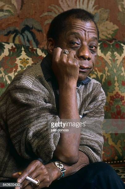 American writer James Baldwin gives an interview to Harlem Desir founder of SOS Racisme a French antiracism group Baldwin is actively involved in...