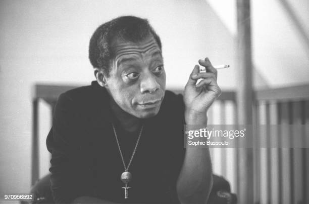 American Writer James Baldwin in Paris