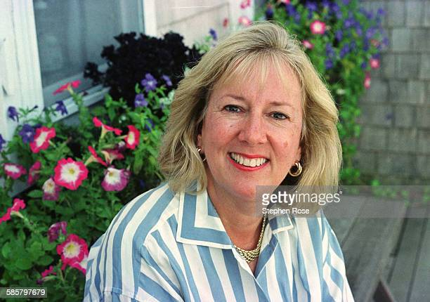 American writer Linda Fairstein author of 'Cold Hit' at her home in Chilmark Massachusetts 25th August 1999