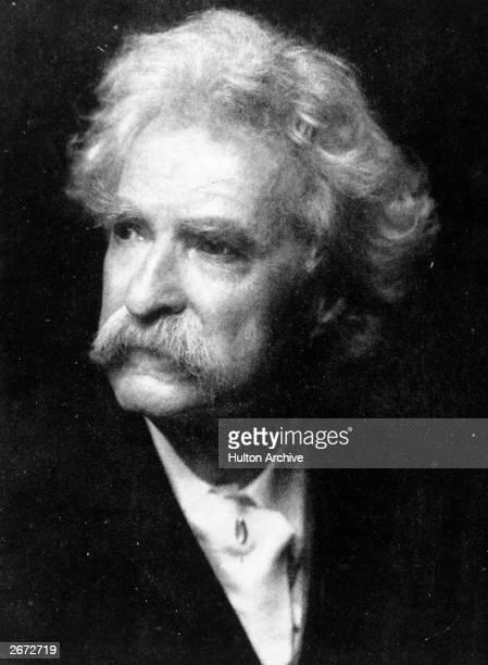 American writer Mark Twain pseudonym of Samuel Langhorne Clemens