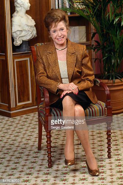 American writer Mary Higgins Clark after literary television show Jean Edern's Club