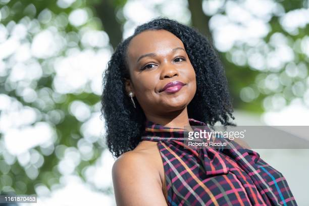 American writer Nafissa Thompson-Spires attends a photocall during the Edinburgh International Book Festival 2019 on August 16, 2019 in Edinburgh,...