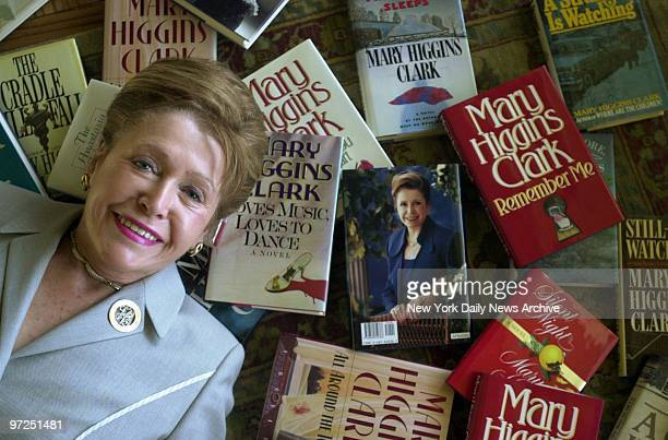 Author Mary Higgins Clark is backed up by some of her bestsellers in her Manhattan apartment She's celebrating 25 years with her publisher Simon...